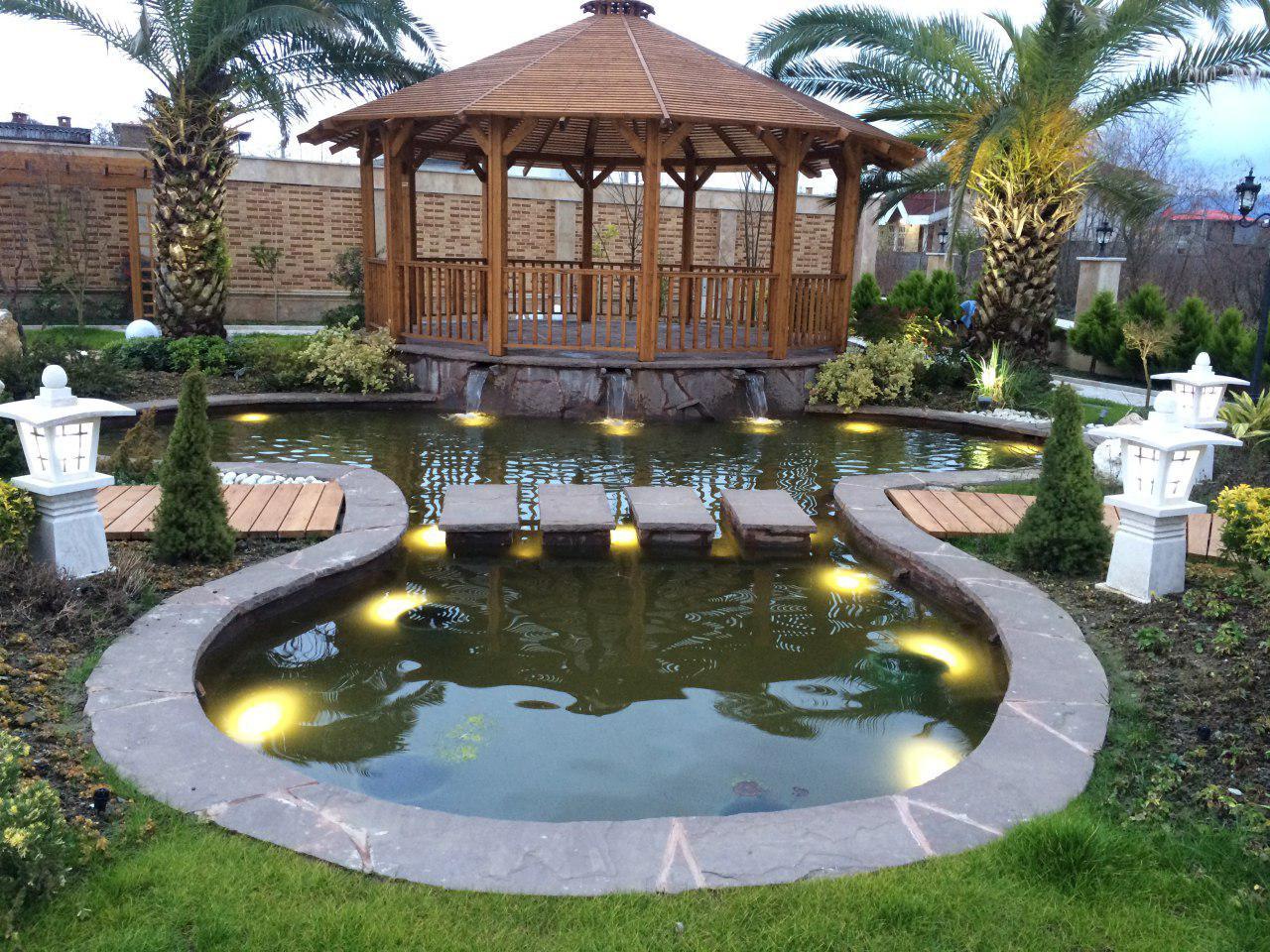 نمونه طراحی حیاط ویلا